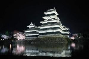 夜桜と松本城ー5