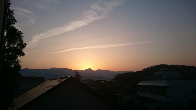 伊藤設計から見える夕焼け
