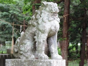 間々部諏訪神社-2 吽形