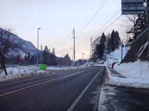 小谷の雪ー2
