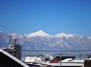 大雪後のアルプス