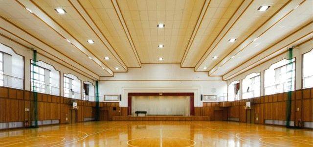 大町西小学校屋内運動場非構造部耐震化 【耐震補強】