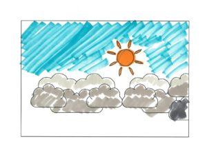 今日のお天気は晴れていますか?曇りですか?