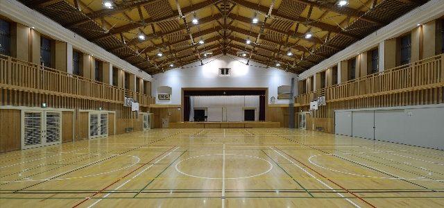 明南小学校体育館非構造部材耐震化 【耐震補強】