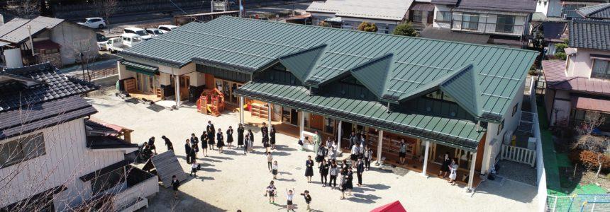 大町市 認定こども園 こまくさ幼稚園 新築【児童福祉施設】